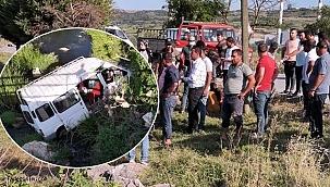 Mevsimlik işçiler kaza geçirdi! 5 yaralı