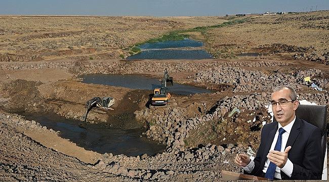 Siverek Uzunca Göleti'nde Çalışmalar Aralıksız Devam Ediyor