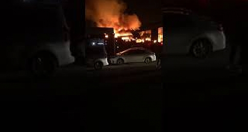 Şanlıurfada Petrol İstasyonunda Yangın