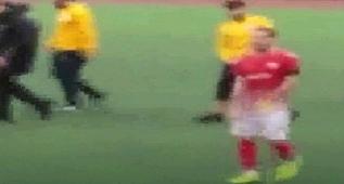 Urfa'da Futbola Yakışmayan Görüntü